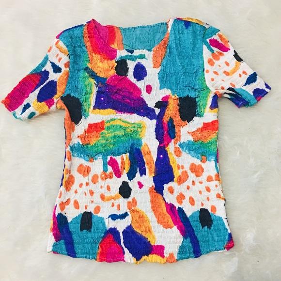 5c64e191478549 Vintage Tops | 80s90s Sequin Stretch Ruffled Shirt | Poshmark